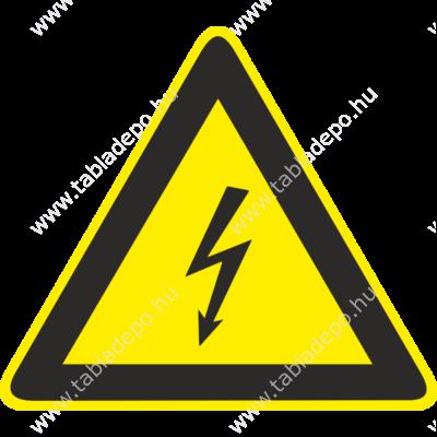 áramütés veszélye figyelmeztető piktogram