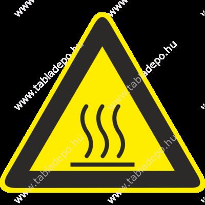 Forró felület piktogram