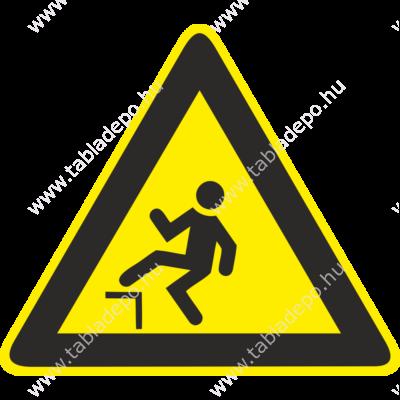 Zuhanásveszély piktogram