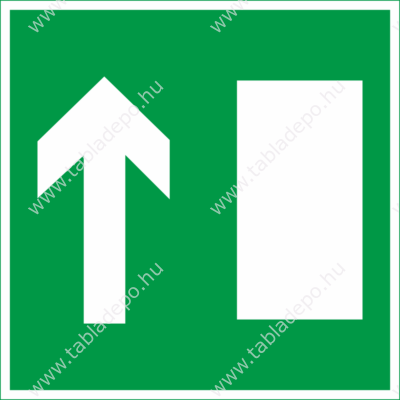 menekülési útvonal tábla, matrica