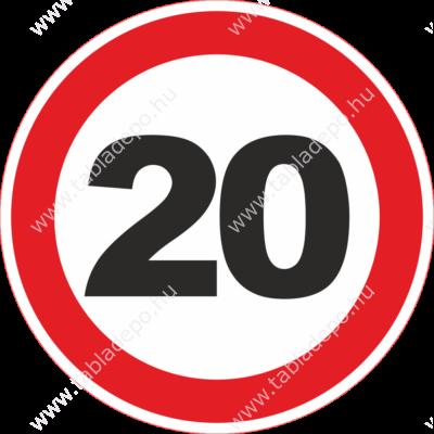 sebességkorlátozó tábla születésnapra