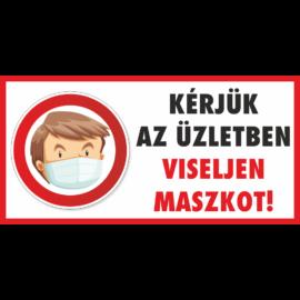 maszk használata kötelező matrica