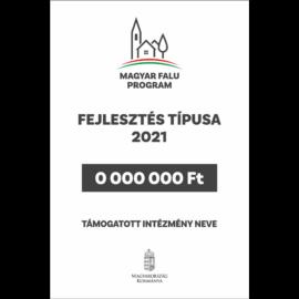 magyar falu program támogatói tábla