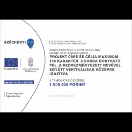 Széchenyi 2020 C típusú projekt tábla - fekvő