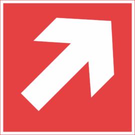 átlós iránymutató nyíl – tűzvédelmi matrica