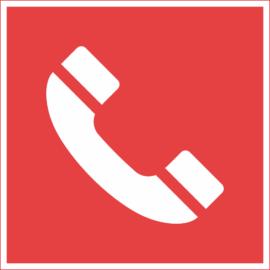 tűzvédelmi tábla – telefon