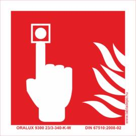 tűzvédelmi utánvilágító tábla, tűzjelző piktogram
