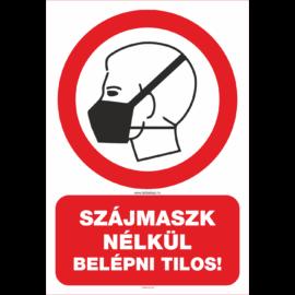 maszk használata kötelező tábla