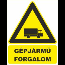 gépjármű forgalom tábla és matrica