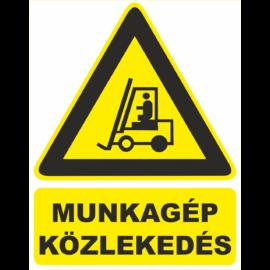 munkagép közlekedés figyelmeztető tábla és matrica