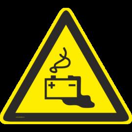 akkumulátor figyelmeztető matrica