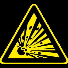 robbanásveszély tábla