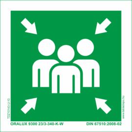 gyülekezőhely - gyülekezési pont tábla