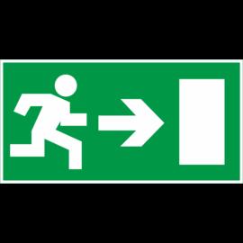 menekülési útvonal tábla