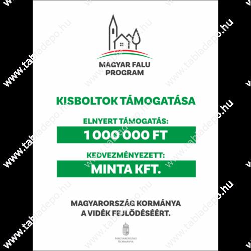 magyar falu program kisboltok támogatói tábla