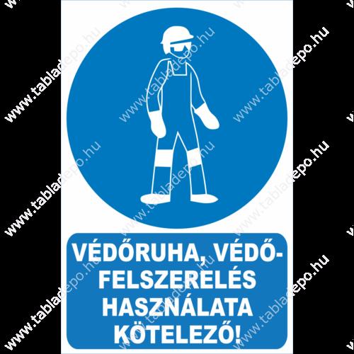 munkavédelmi rendelkező tábla