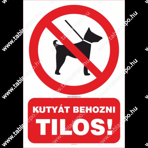 kutyát behozni tilos tábla és matrica