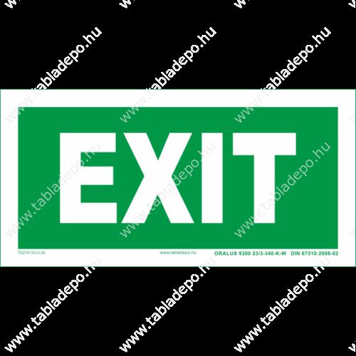 exit tábla - utánvilágító menekülési útvonla tábla